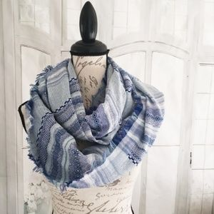 Charming Charlie Accessories - Charming Charlie NWT Tribal Infinity Scarf Blue